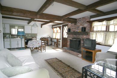 Eastham Cape Cod vacation rental - Living room and Kitchen