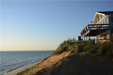 North Eastham Cape Cod vacation rental - View of house from the beach