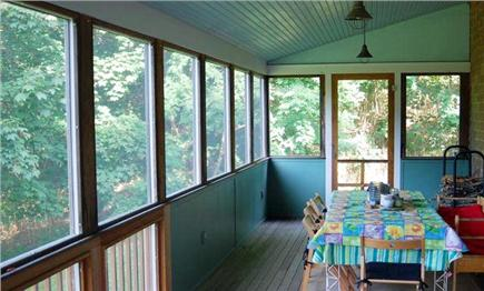 Wellfleet Cape Cod vacation rental - Porch dining for eight