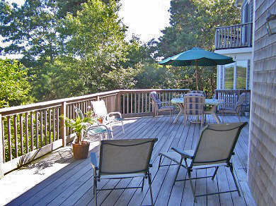 West Dennis Cape Cod vacation rental - Expansive rear deck overlooking marsh and Swan River