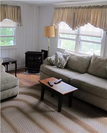 Chatham Cape Cod vacation rental - Living room with gas fire heat stove