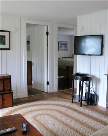 Chatham Cape Cod vacation rental - Living room view of 2 bed rooms 1 q size / front room 2 twin bed