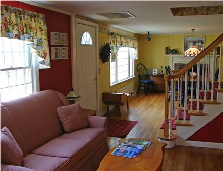 Brewster, The Highlands Cape Cod vacation rental - Work corner in living room with DSL, phone and fax