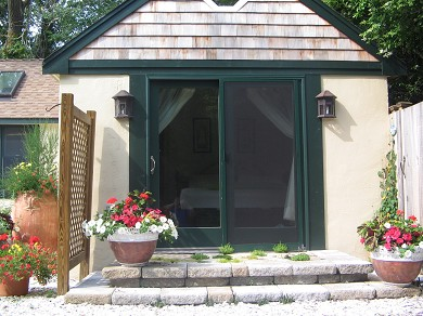 Chatham Village Cape Cod vacation rental - Step outside bedroom to outdoor shower