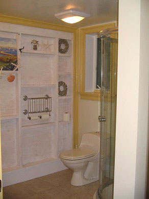 Chatham Village Cape Cod vacation rental - Modern bath with washer and dryer