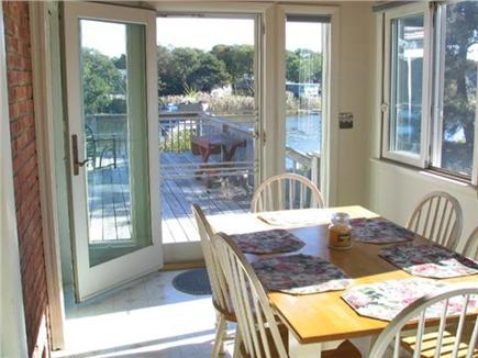 Falmouth Cape Cod vacation rental - Dining area with door to deck