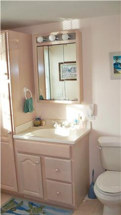 Falmouth Cape Cod vacation rental - Master Bath with shower and laundry area