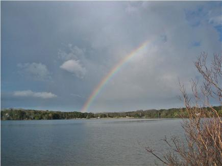 Eastham Cape Cod vacation rental - Rainbow over Great Pond