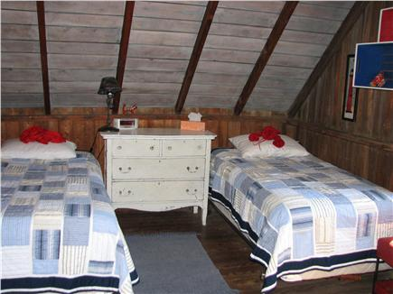 Truro - Corn Hill Cape Cod vacation rental - Second BR - viewed from third trundle bed - sleeps 4 -water views
