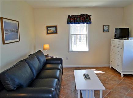 Eastham - Herring Pond Cape Cod vacation rental - Cottage room with television and leather queen size pullout couch
