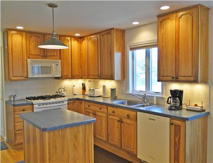Eastham - Herring Pond Cape Cod vacation rental - Beautiful modern kitchen overlooking the water