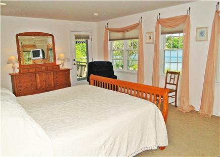 Eastham - Herring Pond Cape Cod vacation rental - Spacious master BR with own bath, door to deck and water view