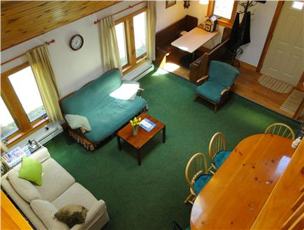 Hyannis Cape Cod vacation rental - Spacious living room with vaulted ceilings