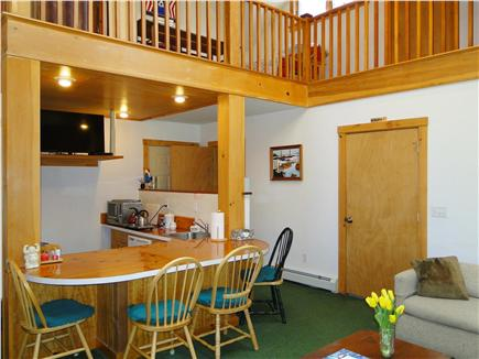Hyannis Cape Cod vacation rental - Sunken Galley British wet bar kitchenette with TV