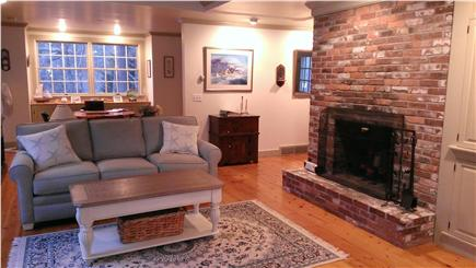 Harwich Cape Cod vacation rental - Newly furnished Living Room, Fireplace, and dining area.