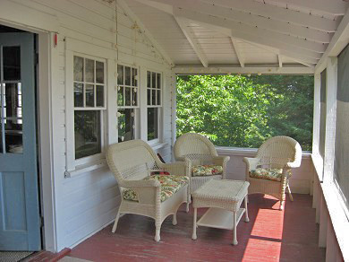 West Dennis Cape Cod vacation rental - Large, screened, waterview porch