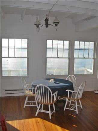 Provincetown Cape Cod vacation rental - Breakfast facing the bay.