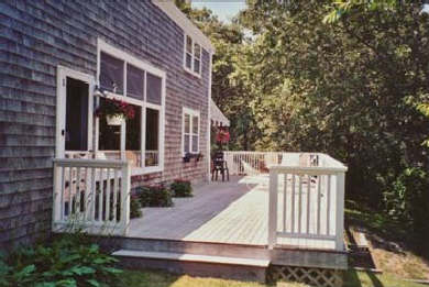 East Sandwich Cape Cod vacation rental - Back deck 65' x 12' off great room