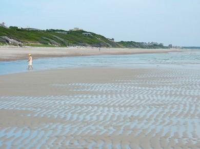 East Sandwich Cape Cod vacation rental - Low tide at Sandy Neck Beach