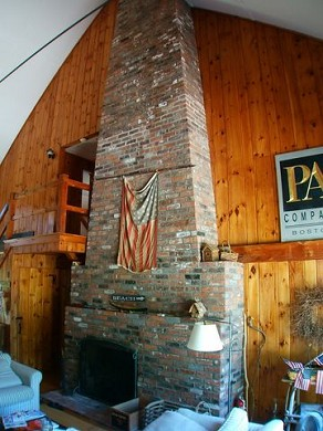 East Sandwich Cape Cod vacation rental - Great room fireplace - wonderful for fall rentals