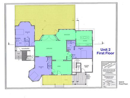 Provincetown Cape Cod vacation rental - 1700sf floor plan comprises the entire main floor