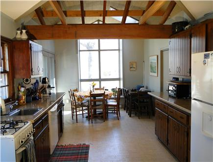 Wellfleet Cape Cod vacation rental - Large vaulted kitchen area with dining area