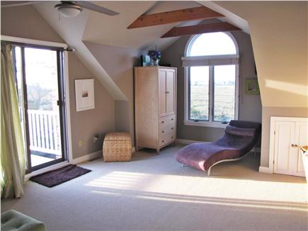 North Eastham Cape Cod vacation rental - Master BR sitting area - views of conservation land/Cape Cod Bay