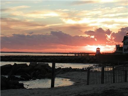 West Dennis,on the beach Cape Cod vacation rental - West view sunset