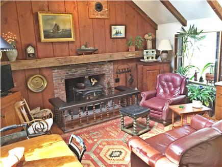 Yarmouthport historic 6A Cape Cod vacation rental - Great room with 2 picture windows and skylight