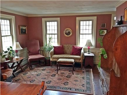 Yarmouthport historic 6A Cape Cod vacation rental - View of parlor from dining room