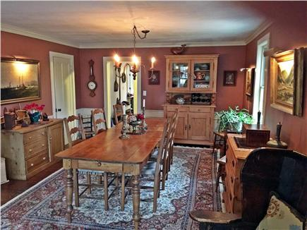 Yarmouthport historic 6A Cape Cod vacation rental - Dining room from the parlor (table sits 10)