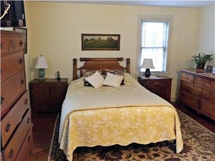 Yarmouthport historic 6A Cape Cod vacation rental - First floor master bedroom suite with 2 bureaus and closet