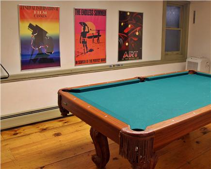Brewster Cape Cod vacation rental - Rec room with pool table and HD cable TV with DVD