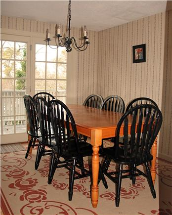 Brewster Cape Cod vacation rental - Breakfast room opens to deck and outdoor grill, table and chairs