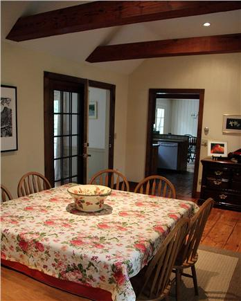 Brewster Cape Cod vacation rental - Spacious dining room - with open-beamed cathedral ceiling