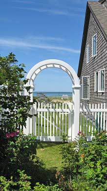 Brewster Cape Cod vacation rental - Beautiful water view through the arbor