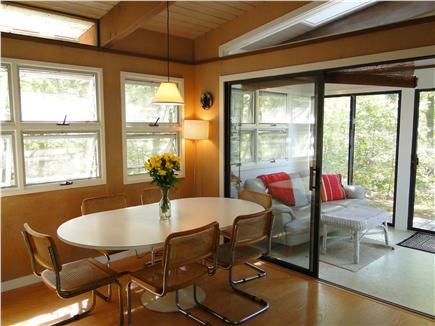 Wellfleet Cape Cod vacation rental - Dining area, adjacent to sun room