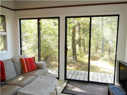 Wellfleet Cape Cod vacation rental - Sun Room w/ fold-out couch, flat screen TV
