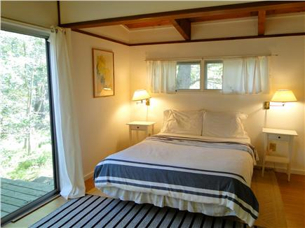 Wellfleet Cape Cod vacation rental - Second queen bedroom with sliders to private entrance