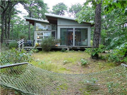 Wellfleet Cape Cod vacation rental - Relax on hammock, lovely wooded setting