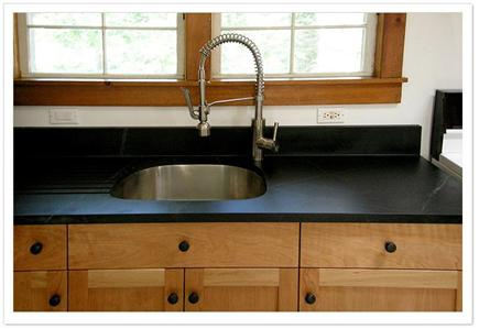 Eastham Cape Cod vacation rental - Soapstone countertop, cherry cabinets