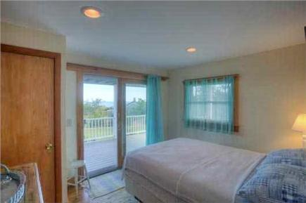 South Wellfleet Cape Cod vacation rental - Bedroom with double bed and oceanviews