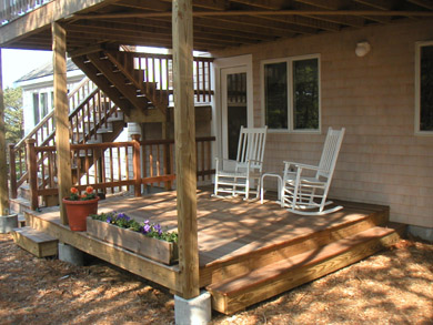 Wellfleet, Indian Neck Cape Cod vacation rental - Shady back deck, perfect for reading a book!