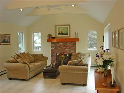 Wellfleet, Indian Neck Cape Cod vacation rental - Beautiful, open living area with simple and elegant decor