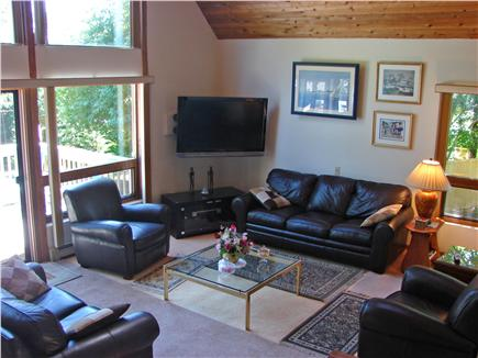 Wellfleet Cape Cod vacation rental - Spacious, bright living room with vaulted ceiling, flat screen TV