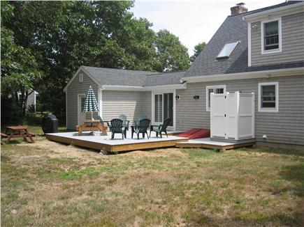 North Eastham Cape Cod vacation rental - Large deck and outdoor shower in quiet back yard