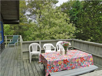 Wellfleet Cape Cod vacation rental - Deck provides separate dining area, lovely breezes,