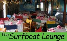 Surfboat Lounge at The Lobster Claw