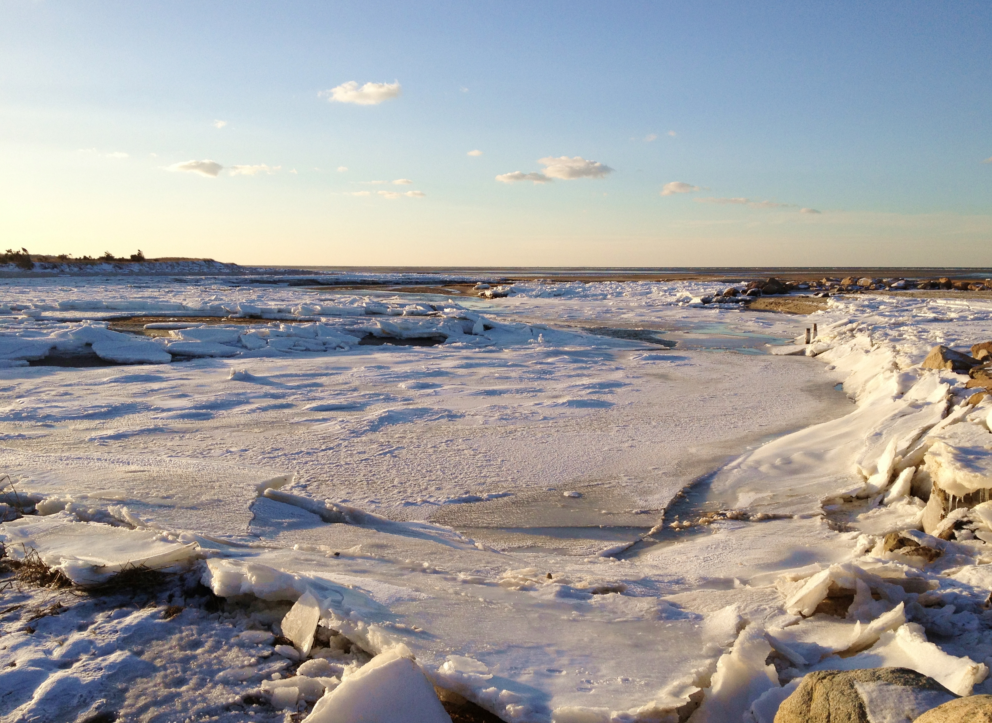 Frozen Cape Cod Bay