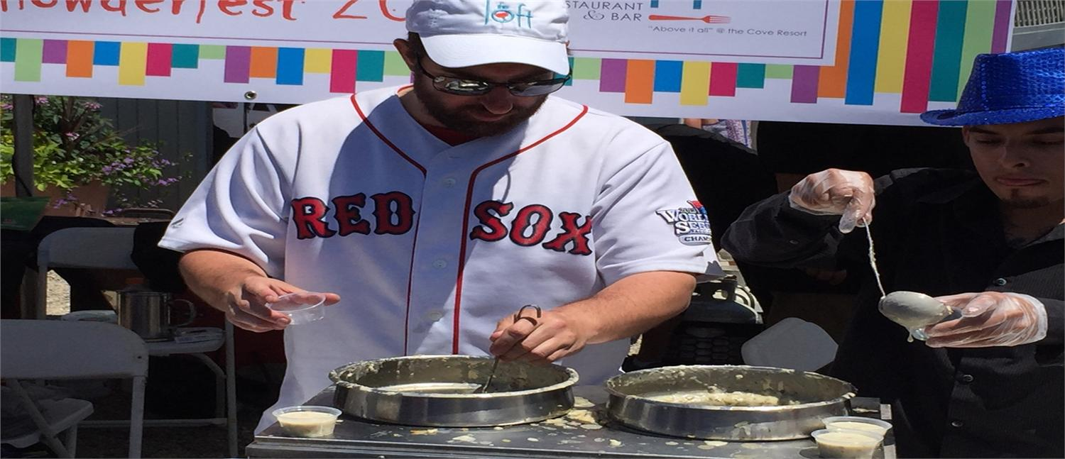 Ten restaurants from across the Cape brought their smiling staff members and gallons of everyone's favorite New England clam chowder to be judged by a jury of vacationers and locals both young and old.
